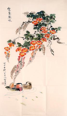 Sheng Liangxian (1919 - 2008) Mandarin Ducks