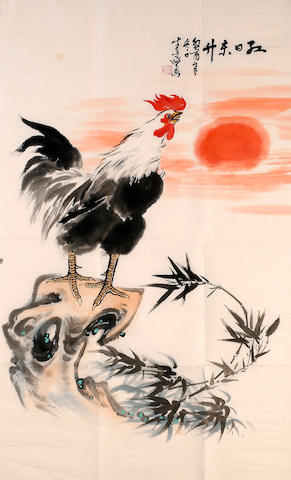 Sheng Liangxian (1919 - 2008) Sunrise and Rooster