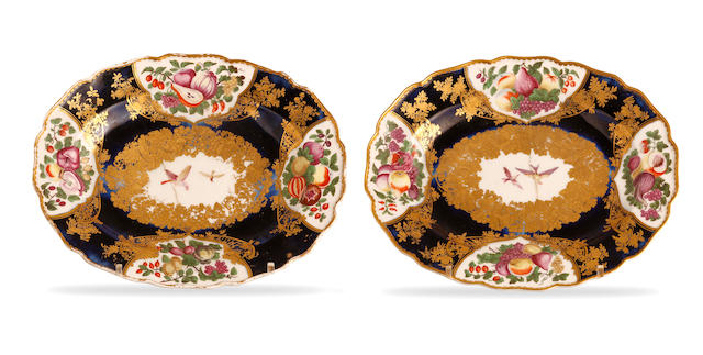 A pair of Chelsea oval dishes Late 18th century