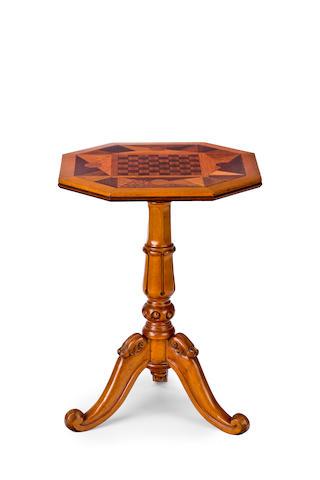 An Australian huon pine specimen top occasional table Tasmania, circa 1860