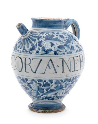 A Venetian maiolica wet drug jar, circa 1600