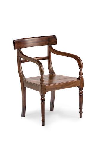 An Australian  cedar armchair Circa 1845