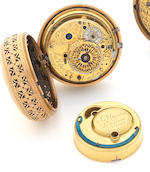 James Upjohn. A fine late 18th century 18ct gold quarter repeating pair case pocket watchNo.2007, outer case with London Hallmark for 1816