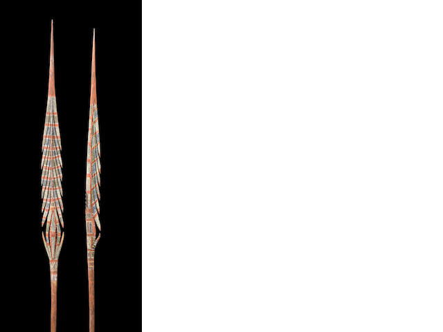 Two Ceremonial Spears, Bathurst or Melville Islands
