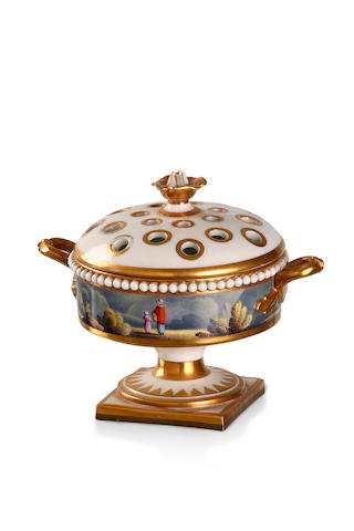 A Flight Barr and Barr pedestal pot pourri Circa 1820