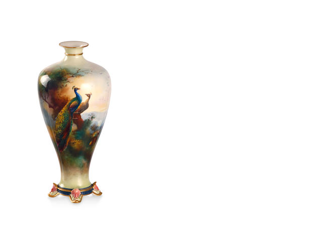 A Royal Worcester vase by Walter Sedgley 1907