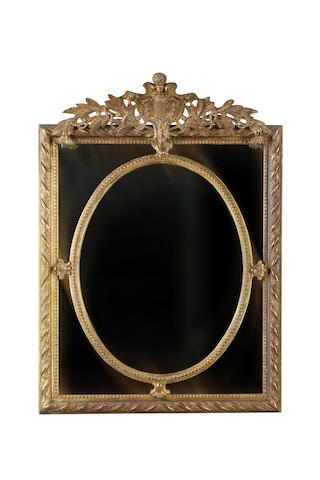 A late 19th century   giltwood and composition wall mirror