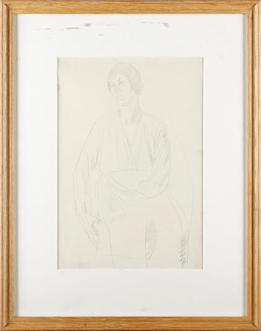 Manner of Augustus John O.M., R.A. Portrait of a seated woman