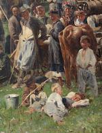 Vladimir Egorovich Makovsky (Russian, 1846-1920) 'Fair (Little Russia)', 1885