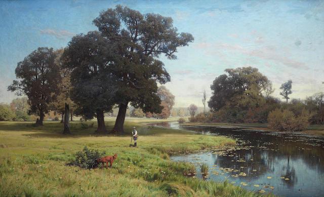 Vladimir Donatovitch Orlovsky (Russian, 1842-1914) 'River Gnilitsa', 1885