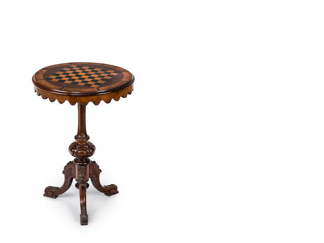 An Australian cedar and specimen wood occasional table Circa 1870