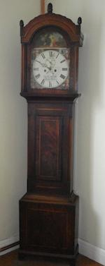 James Melluish, Batheaston: A 19th Century mahogany longcase clock,