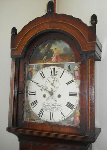 James Melluish, Batheaston: A 19th Century mahogany longcase clock,