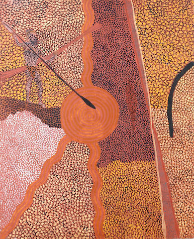 Tim Leura Tjapaltjarri (circa 1929-1984) Untitled (Ancestral Hunter)