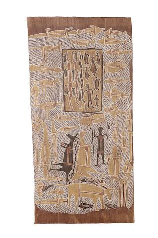 Munggarawuy Yunupingu (circa 1907-1979) Untitled (Hunting Story)