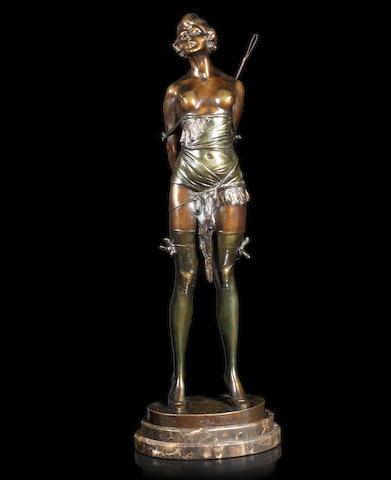 Bruno Zach 'The Riding Crop' an Excellent Patinated Bronze Study, circa 1925