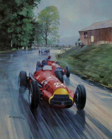Seven motorsport prints after Michael Turner,