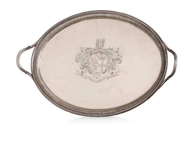 A Regency silver two-handled tray Thomas Hannam & John Crouch II, London 1805