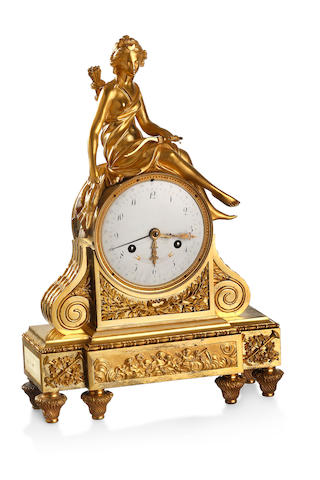 A 19th century French ormolu figural clock F. Couturier a Paris