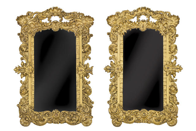 A pair of George IV gilt and composition pier mirrorsSecond quarter of 19th century