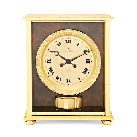A Jaeger Le Coultre Embassy Rouge Veinee type Atmos clock