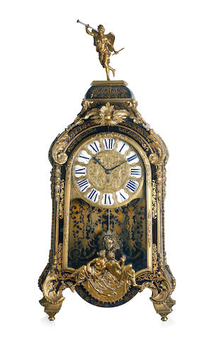 A Regence period ormolu-mounted, tortoiseshell and brass Boulle marquetry bracket clock First half 18th century