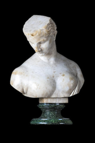 An Empire period marble bust of Athena