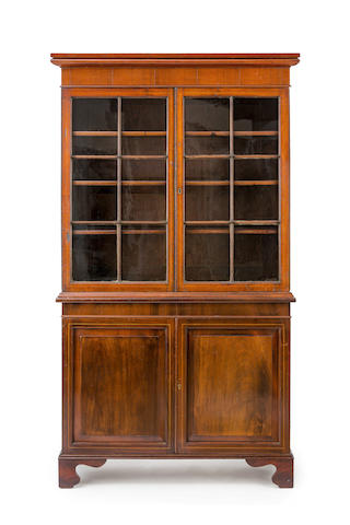 A 19th century Australian cedar and pine strung double depth bookcase