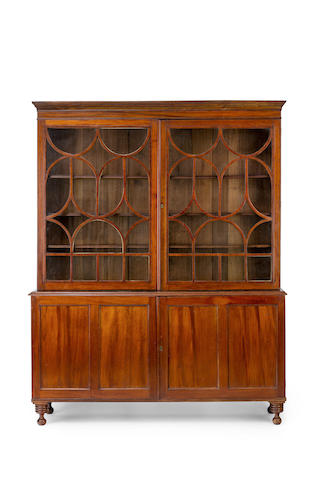A large Australian cedar bookcase Second quarter of 19th century