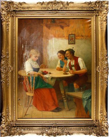 Theodore Kleehaas (German, 1854-1929) Sharing a joke