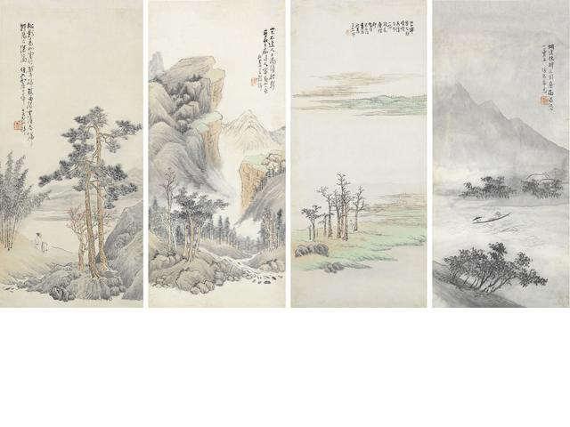 Wu Guxiang (1843-1903) Landscapes of the Four Seasons