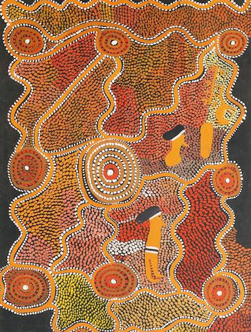 Mick Namarari Tjapaltjarri (circa 1926-1998) Wind Dreaming for Two Brothers