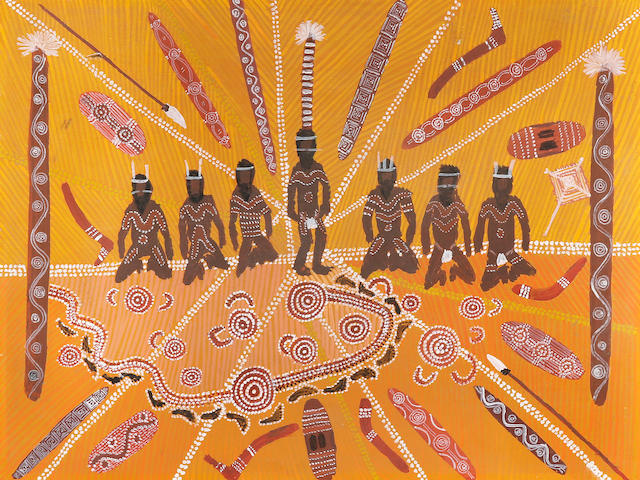 Clifford Possum Tjapaltjarri (circa 1930-2002) Untitled (Possum Ceremony)