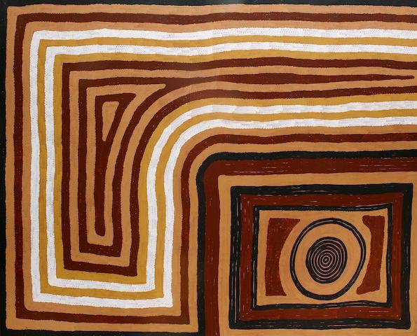 Ronnie Tjampitjinpa (born circa 1942) Untitled (Kadaitcha Dreaming)