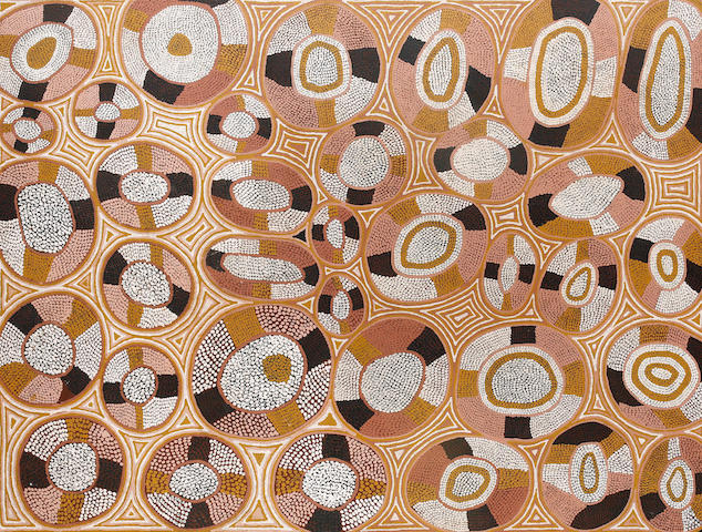 George Tjungurrayi (born circa 1943) Untitled (Bush Tucker Dreaming)