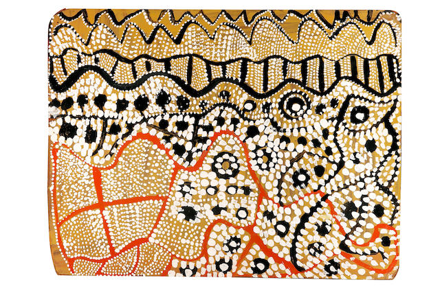 Johnny Warangkula Tjupurrula (circa 1925-2001) Untitled (Water Dreaming at Tjikari)