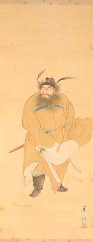 Japanese school Portrait of a warlord