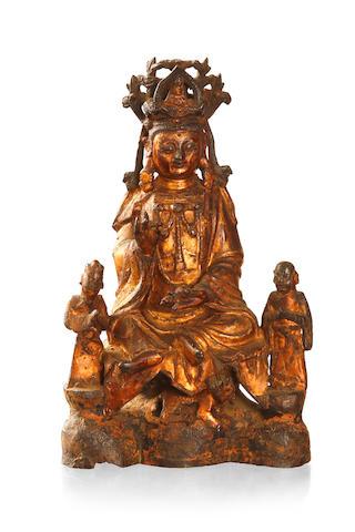 A Chinese bronze Bodhisattva statue Ming