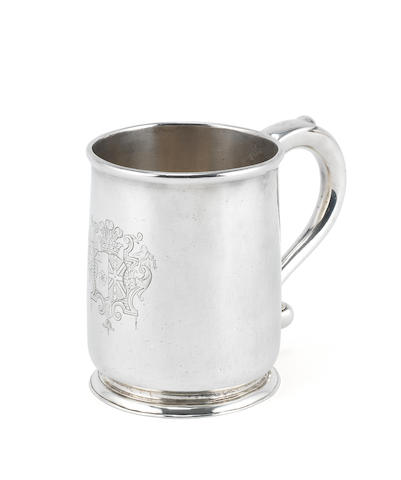 A George I silver mug by Paul de Lamerie, London 1719,