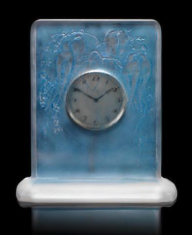 René Lalique 'Six Hirondelles Perchées' a Clock, design 1920