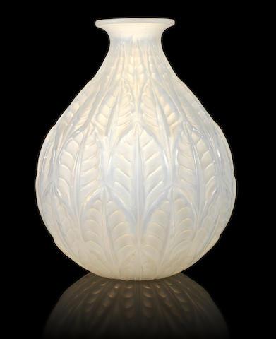René Lalique 'Malesherbes' a Vase, design 1927