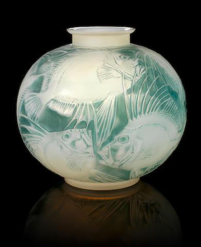 René Lalique  'Poissons' a Vase, design 1921