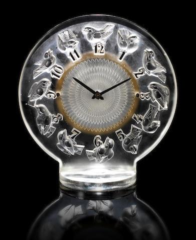 René Lalique 'Rossignols' a Clock, design 1931