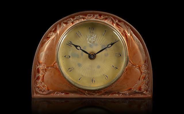 René Lalique  'Moineaux' a Clock, design 1924
