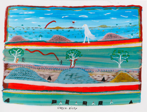 Ginger Riley Munduwalawala (circa 1937-2002) Untitled (Limmen Bight Country)