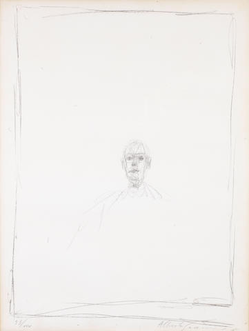 Alberto Giacometti (Swiss, 1901-1966) Lithograph, signed and numbered 53/100 in pencil,  550 x 410mm (21 5/8 x 16 1/8in)(SH)