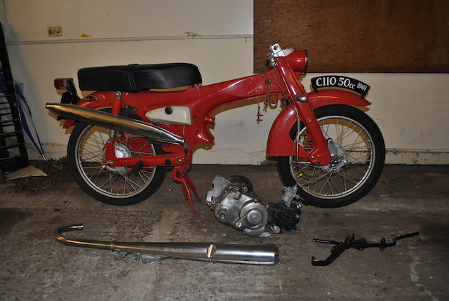 1961 Honda C110 incomplete project (Red)