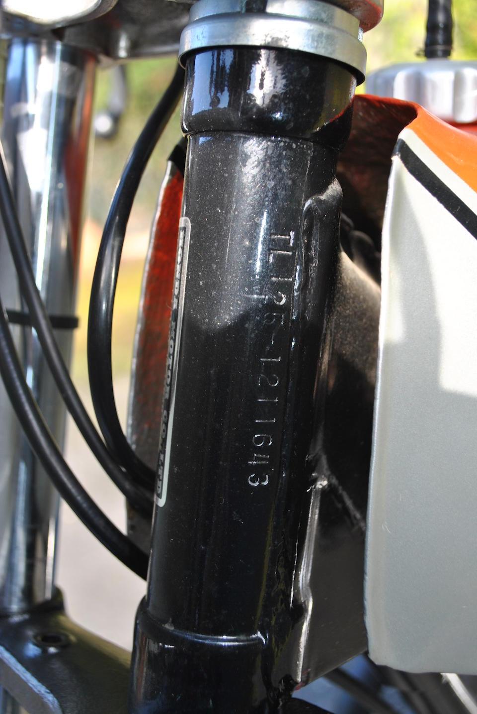 1974 Honda TL125 Trials Motorcycle Frame no. TL125 1211643 Engine no. TL125E 1211734