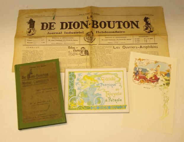 R J Mecredy: De Dion Bouton Motor Carriages; 1908,
