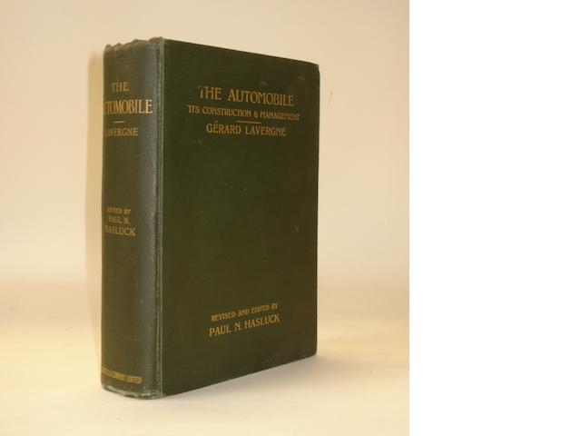 Gerard Lavergne: The Automobile - Its Construction & Management; 1902,